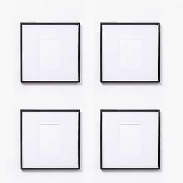"Gallery Frame, Antique Bronze, Set of 4, 5"" x 7"" (12"" x 12"" without mat) - West Elm"