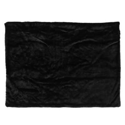 Toscana New Black Faux Fur Throw Blanket - Home Depot