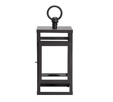"Maxwell Handcrafted Lantern, Black, Mini - 11"" - Pottery Barn"