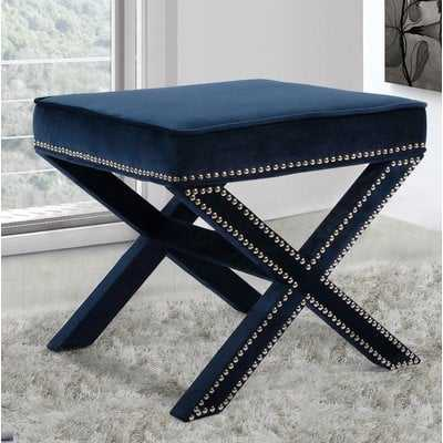 Norfolk Ottoman, Navy - Wayfair