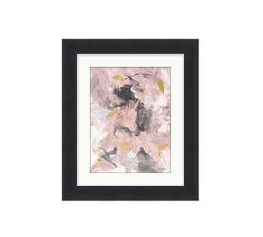 "Pink Grey Gold Framed Print, 11 x 13"", Small - Matte Black - Pottery Barn"
