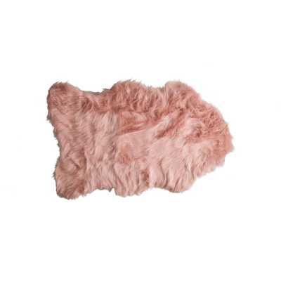 Lifestyle Group Distribution Gordon Dusty Rose 2 ft. x 3 ft. Faux Sheepskin Indoor Rug - Home Depot