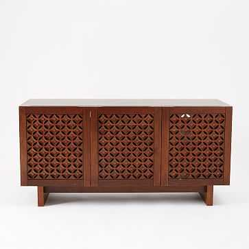 Carved Media Console, Bourbon - West Elm