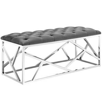 Silver Gray Intersperse Bench - Home Depot