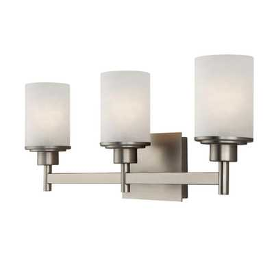CANARM Lyndi 3-Light Brushed Nickel Bath Light - Home Depot