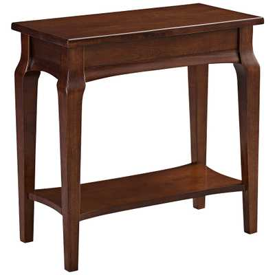 Leick Stratus Heartwood Cherry Wood Narrow Chairside Table - Style # 35P65 - Lamps Plus