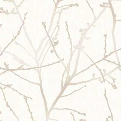 Innocence Stone/Cream Vinyl Strippable Wallpaper (Covers 56 sq. ft.) - Home Depot