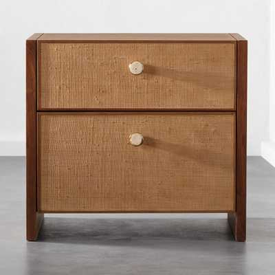 Grasscloth Nightstand - CB2
