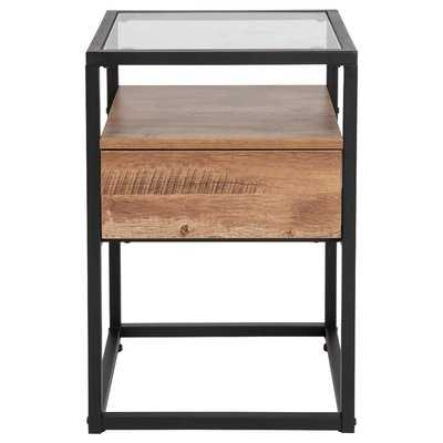 Riaan End Table with Storage - Wayfair