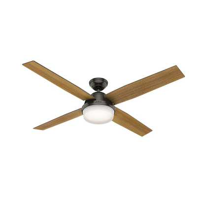 Hunter Dempsey 60 in. LED Indoor Noble Bronze Ceiling Fan with Universal Handheld Remote Control and Light Kit - Home Depot
