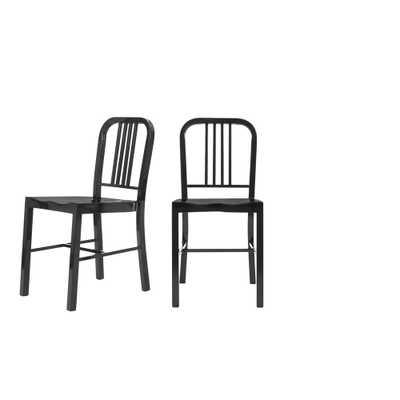 StyleWell Kipling Black Metal Dining Chair (Set of 2) (15.94 in. W x 32.67 in. H) - Home Depot