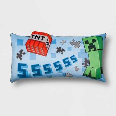 Minecraft Creeper Throw Pillow Blue - Target