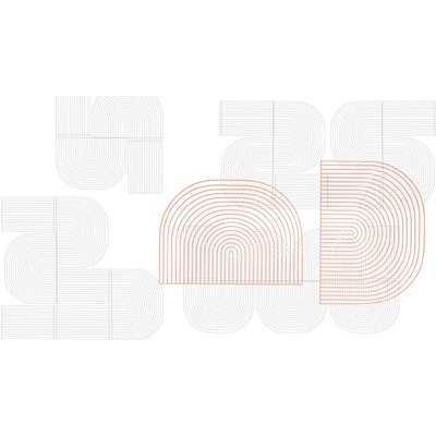 2 Piece Modular Curved Art Wall Décor Set - AllModern