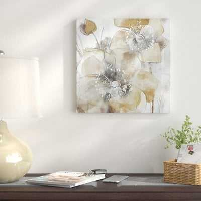 'Taupe Spring Poppy II' Oil Painting Print on Wrapped Canvas - Wayfair