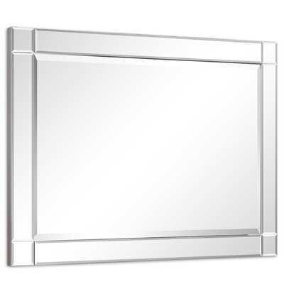 Nuri Modern Squared Corner Rectangle Beveled Wall Mirror - Wayfair