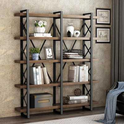 Hessler Solid Wood Wide Open Etagere Bookcase - Wayfair