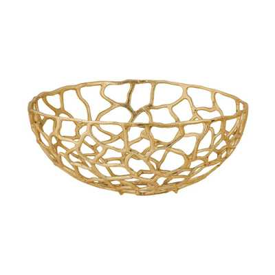 Free Form Large Decorative Bowl in Gold - Home Depot