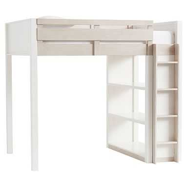 Rhys Loft Bed, Full, Weathered White/Simply White - Pottery Barn Teen
