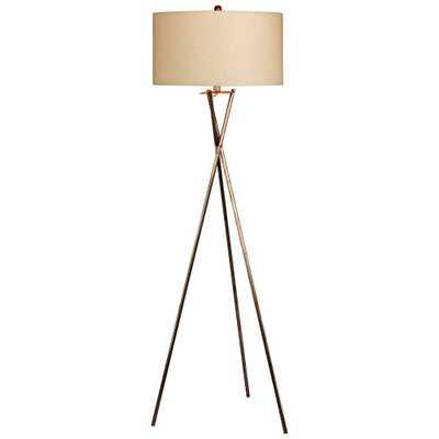 Breslen Rusted Silver Tripod Metal Floor Lamp - Style # 37N90 - Lamps Plus