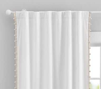 "Cotton Pom Panel. 44 x 96"", Gold - Pottery Barn Kids"