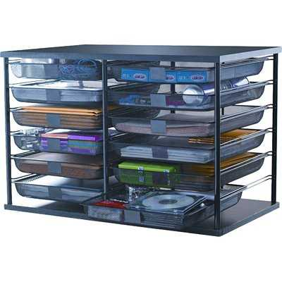 12-Compartment Organizer with Mesh Drawers - Wayfair