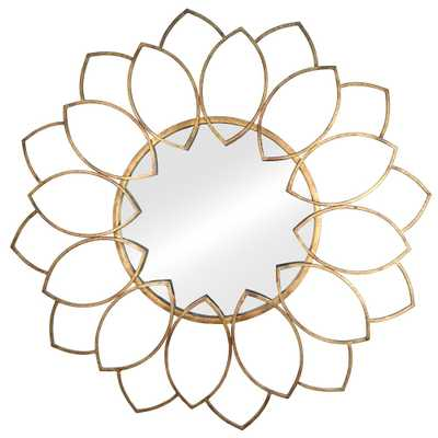 "Stratton Home Decor 32.28""x32.28"" Alexandra Decorative Wall Mirror Golden Bronze - Target"