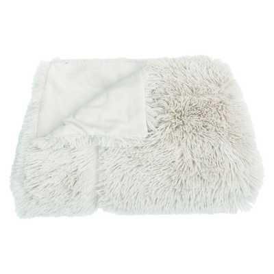 "60""x50"" Chunky Faux Fur Throw Blanket White - Decor Therapy - Target"