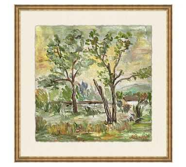 "Behind the Trees Wall Art, 18 x 18"" - Pottery Barn"