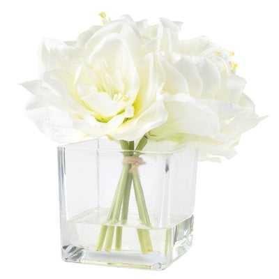 Lilies Floral Arrangement in Vase - AllModern