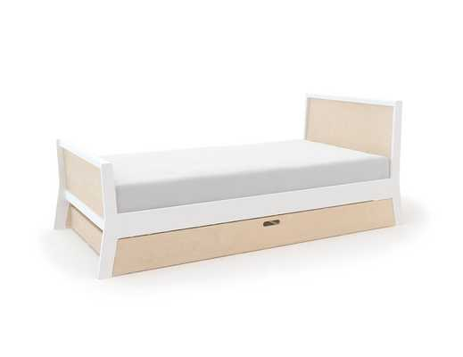 Sparrow Modern Classic Oeuf Birch Twin Bed Trundle - Kathy Kuo Home