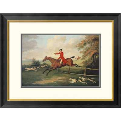 'Fox Hunting Scene' Framed Drawing Print - Wayfair