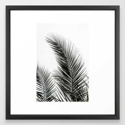 Palm Leaves Framed Art Print by Maboe - Society6