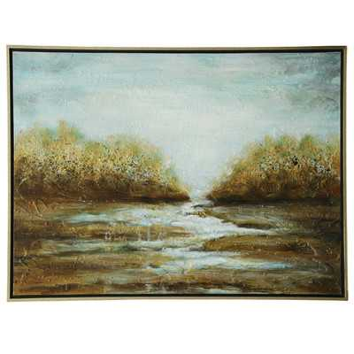 Landscape Framed Painting on Canvas - Birch Lane
