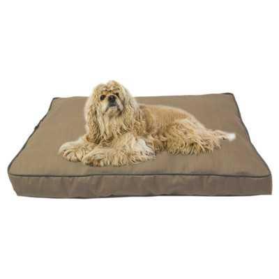 Dane Indoor/Outdoor Dog Bed with Cording in Solid Tan - Wayfair