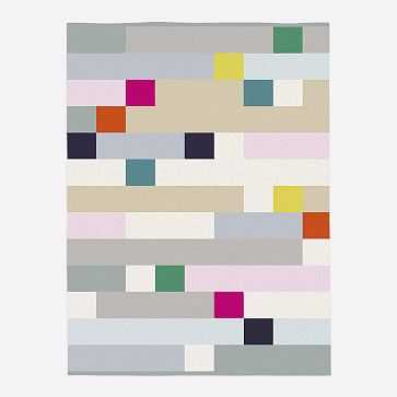 Margo Selby Squares Rug, Multi, 8'x10' - West Elm