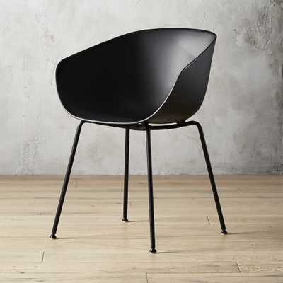 Poppy Black Plastic Chair - CB2