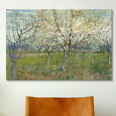 'The Pink Orchard' by Vincent Van Gogh Painting Print on Wrapped Canvas - Wayfair