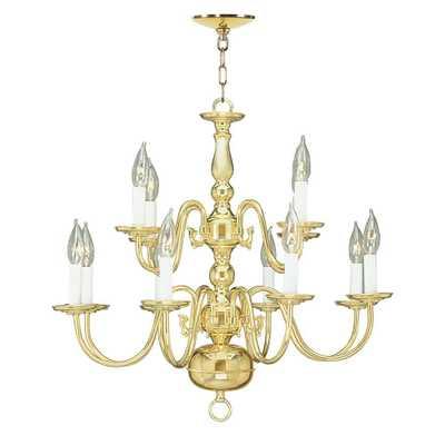 Livex Lighting 8-Light Polished Brass Chandelier - Home Depot