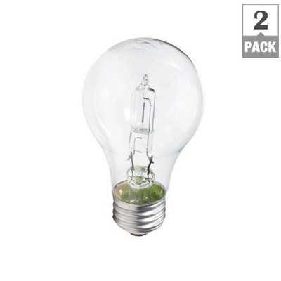 100-Watt Equivalent A19 Incandescent Light Bulb (2-Pack) - Home Depot