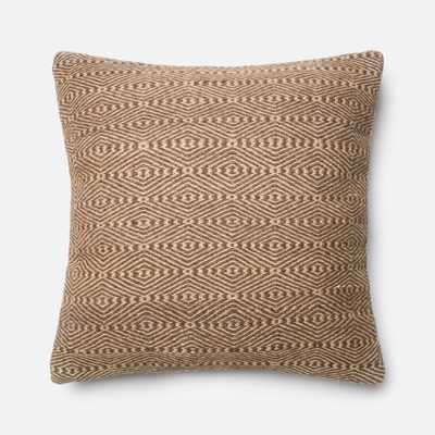 """PILLOWS - BROWN / BEIGE - 22"""" X 22"""" Cover Only - Loma Threads"""
