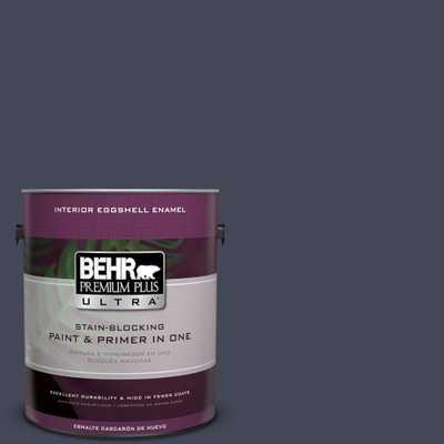 BEHR Premium Plus Ultra 1 gal. #PPU15-19 Black Sapphire Eggshell Enamel Interior Paint and Primer in One, Purples/Lavenders - Home Depot