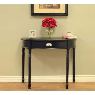 Black Storage Console Table - Home Depot