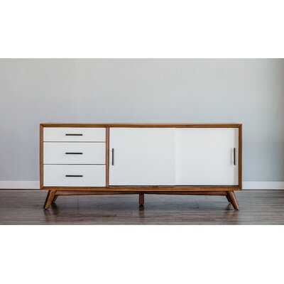 Flynn Large Tv Console, Acorn/White - Wayfair