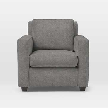 Henry Armchair, Retro Weave, Feather Gray - West Elm