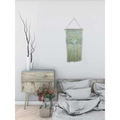 """Green """"Heart Macrame"""" by Marmont Hill Wall Tapestry - Home Depot"""