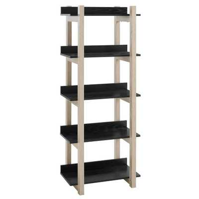 Reprieve Natural Black Bookcase - Home Depot