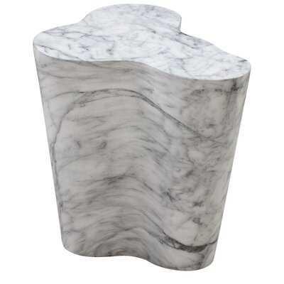 Mexia Marble Short Side Table - Wayfair