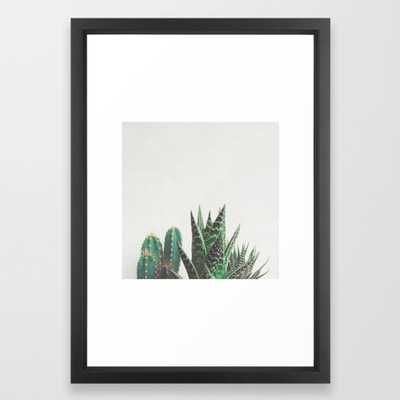 Cactus & Succulents Framed Art Print by Cassiabeck - Society6