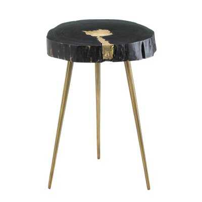 Aurora Edge Wood End Table - Wayfair