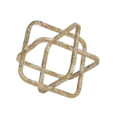 Rivale Metal Cube Sculpture - Wayfair